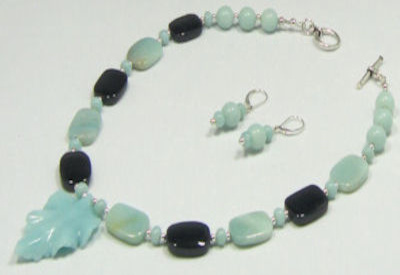 Amazonite and Black Onyx